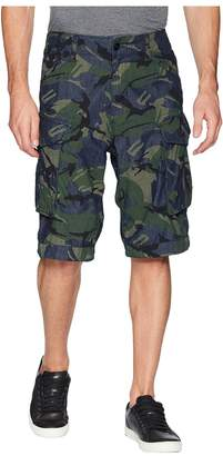 G Star G-Star Rovic Relaxed 1/2 Shorts in Raw Denim/Light Aged Olive All Over Men's Shorts