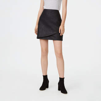 Club Monaco Falleece Faux Leather Skirt