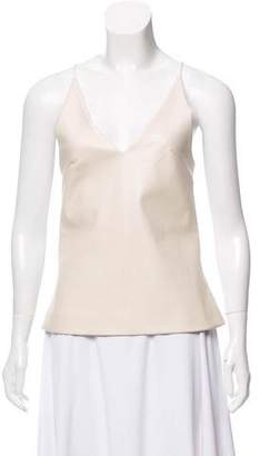 David Koma Sleeveless Leather Top w/ Tags
