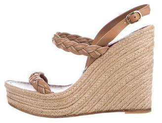 Valentino Braided Leather Wedges