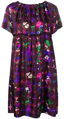 Odeeh floral print flared dress