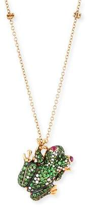 Roberto Coin 18k Pave Frog Pendant Necklace