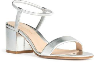 Gianvito Rossi Nikki 60 silver leather sandals
