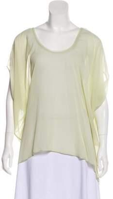 Helmut Lang Sheer Silk Short Sleeve Top w/ Tags