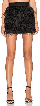 Milly Feather Mini Skirt