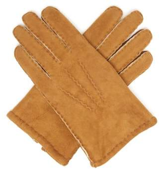 Dents York Shearling Lined Suede Gloves - Mens - Yellow