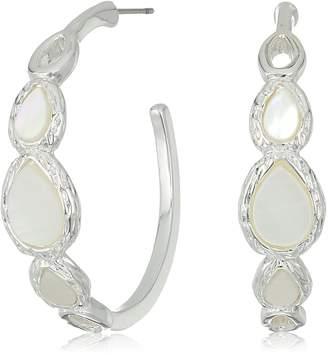 Nine West Women's Silver-Tone and Hoop Earrings