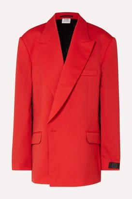 Vetements Oversized Cape-effect Wool Blazer - Red
