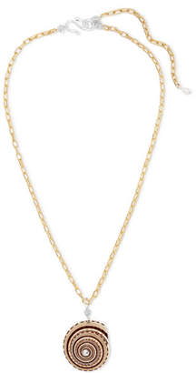 Swarovski WALD Berlin Gin And Juice Gold-plated, Shell And Crystal Necklace