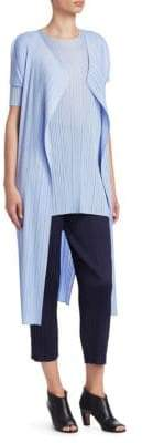 Pleats Please Issey Miyake June Short-Sleeve Long Vest
