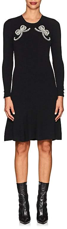 Fendi Women's Embellished Fitted A-Line Dress