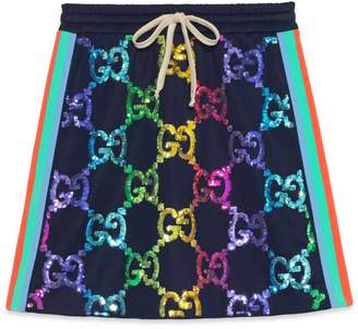 Gucci Technical jersey skirt with GG sequins