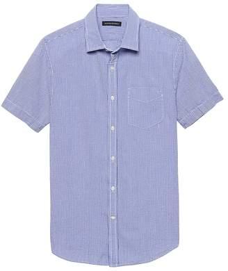 Banana Republic Grant Slim-Fit Seersucker Gingham Shirt