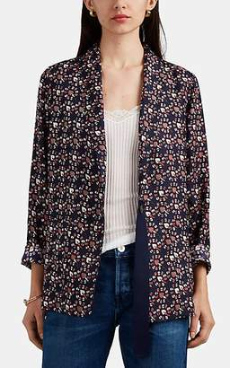 Raquel Allegra Women's Paisley Silk One-Button Blazer