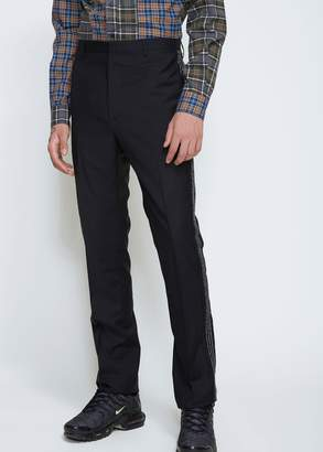 Lanvin Side Pleat Jacquard Ribbon Trouser