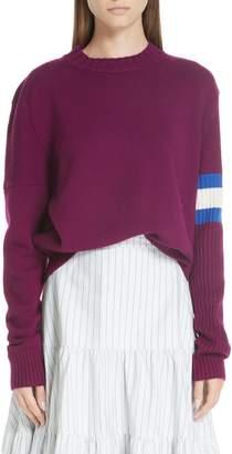 Calvin Klein Cashmere Stripe Sleeve Sweater