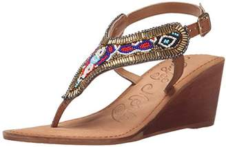 Naughty Monkey Women's Sasha Samba Wedge Sandal