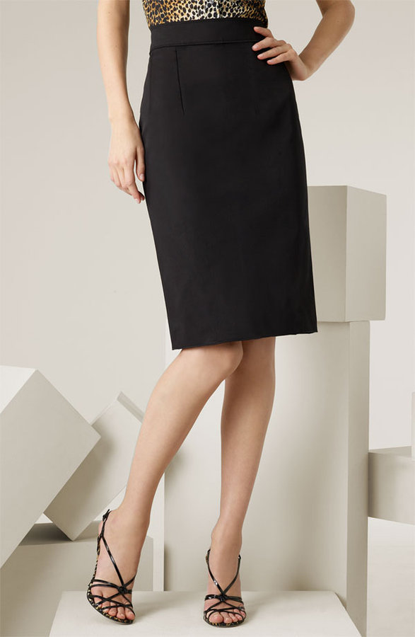 D&G Dolce&Gabbana Stretch Cotton Pencil Skirt