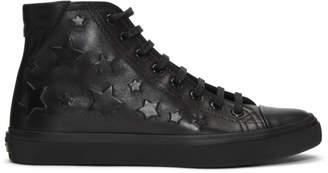 Saint Laurent Black Leather Stars Bedford Sneakers