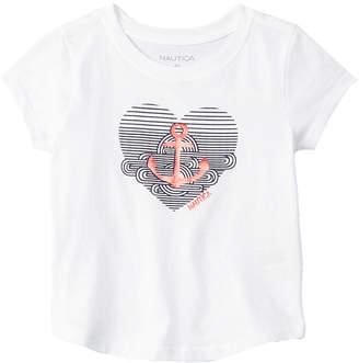 Nautica Girls' Anchor Heart T-Shirt