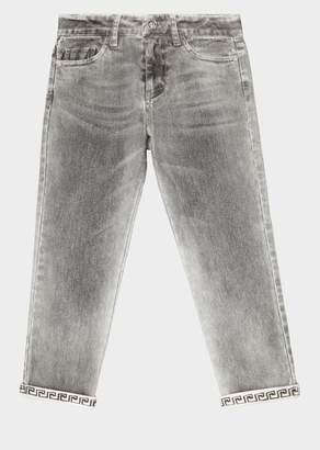 Versace Greca Turn-up Wash Jeans