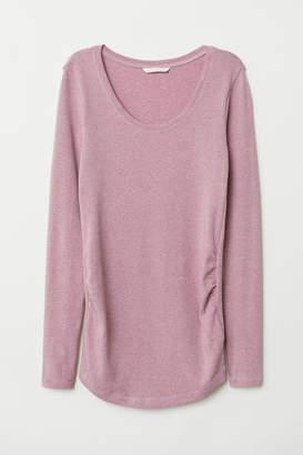 H&M MAMA Jersey Top - Purple
