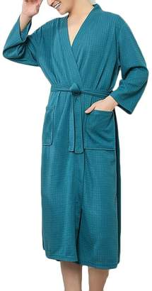 1c42f27a07 Nanquan Men NQ Mens Knitted Spa Bathrobe Lightweight Sleepwear Loungewear Robe  US 3XL