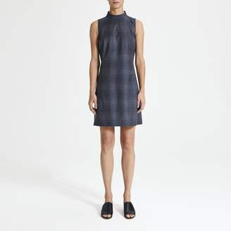 Theory Plaid Zip Back Mod Dress