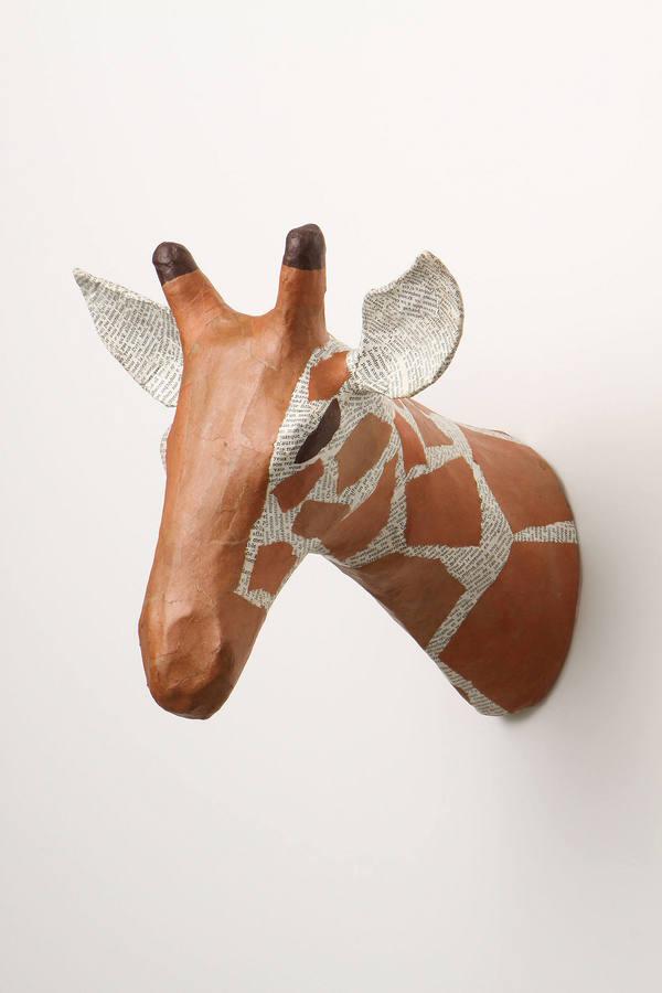 Anthropologie Savannah Story Bust, Giraffe