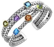 Effy Semi-Precious, Multi-Stone, Sterling Silver and 18K Yellow Gold Bangle Bracelet
