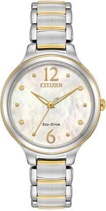 Citizen Eco-Drive Women's L Two-Tone Stainless Steel Bracelet Watch 32mm