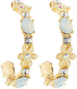 Greenbeads Mint Crystal Hoop Earrings JCQP5zBmju