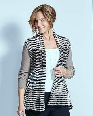 Fashion World Stripe Swing Cardigan