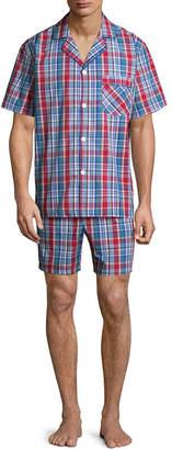 STAFFORD Stafford Men's Notch Collar Short Sleeve/ Short Leg Pajama Set