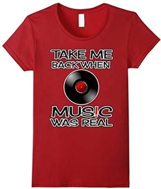 Old School Music T-Shirt When Music Was Real Vinyl Tee Shirt