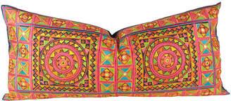 One Kings Lane Vintage Neon Mandala Swati Pillow