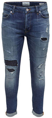 ONLY & SONS Patch Slim-Fit Jeans