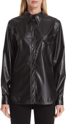 Kwaidan Editions Faux Leather Blouse