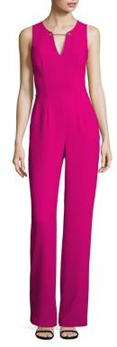 Trina Turk Toggle Chain-Accented Jumpsuit $368 thestylecure.com