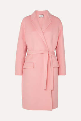 Paul & Joe Martina Belted Wool Coat - Pink