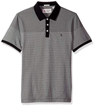 Original Penguin Men's Engineered Feeder Stripe Polo Shirt