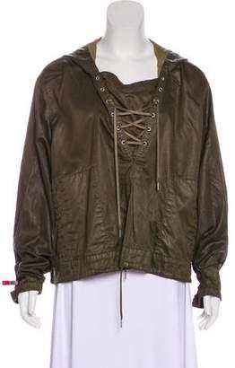 Helmut Lang Hooded Cropped Jacket