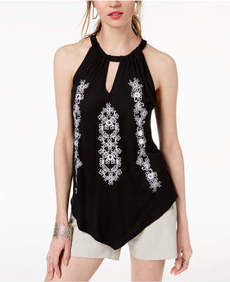INC International Concepts I.N.C. Embellished Halter Top, Created for Macy's