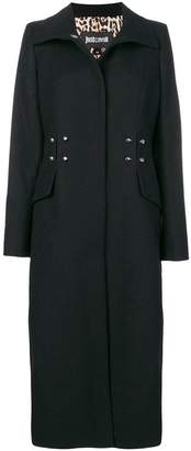 Just Cavalli single-breasted fitted coat