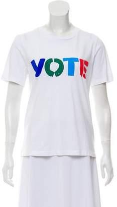 Tory Burch Short Sleeve Printed Top