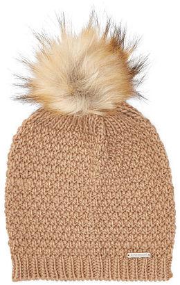 Ralph Lauren Faux-Fur Pom-Pom Hat $42 thestylecure.com