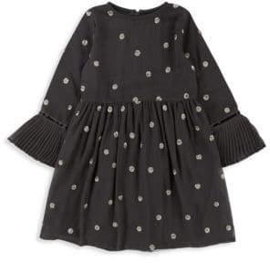 Billieblush Little Girl's Pleated Crepe Dress