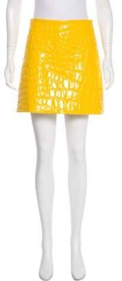 Miu Miu Vinyl A-Line Skirt