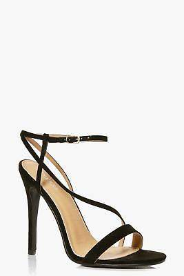 boohoo NEW Womens Open Back Two Part Heels in