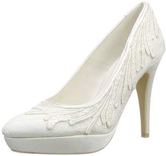 Menbur Wedding Women's Barbara Closed Pumps Ivory Size: 5